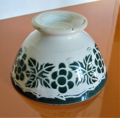 Ancien grand bol belle frise verte, old bowl. no Sarreguemines no Digoin.