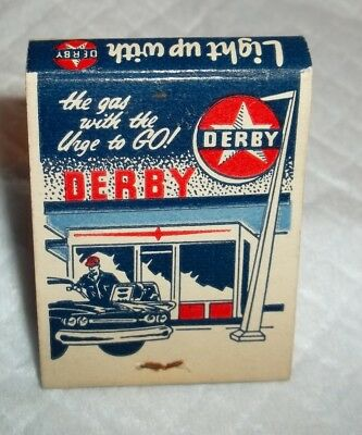 Unused Matchbook Derby Gas Sky Line Truck Stop Foristell, Mo