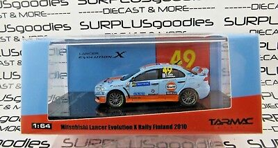 Tarmac Works 1:64 Hobby64 Mitsubishi Lancer Evolution EVO X GULF Rally Finland