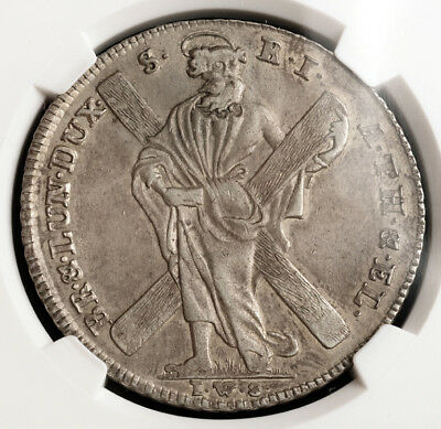 1771, Brunswick-Lun.-Cal.-Hannover, George III. Silver Mining Thaler. NGC AU-50!