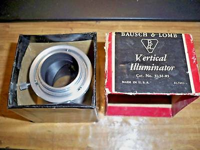 Bausch & Lomb #31-34-83 Vertical Illuminator Microscope Attachment B&l  !!