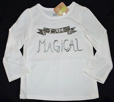 Crazy 8 by Silver I AM MAGICAL White Top Shirt 2T Girls NWT