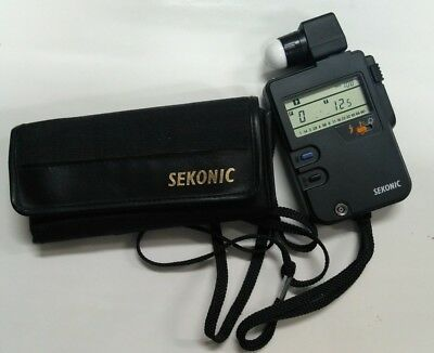 MINT Sekonic L-328 Digi Lite F Digital Light Meter + Case Photographer Film
