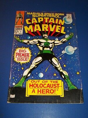 Captain Marvel #1 Silver Age Key Issue Kree Warrior Wow VG+