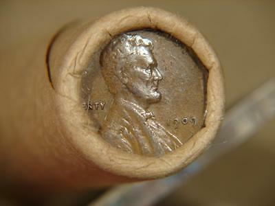 Unopened Lincoln Indian Wheat Cent Penny Roll Of 50 Coins 1909 & 1909 Tail Ends