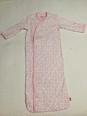 Magnetic Me by Magnificent Baby Pink Funny Bunnies Sack Gown NWOT Newborn 3M