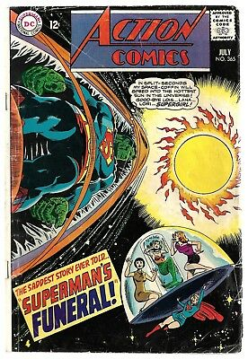 Action Comics #365 Superman  DC Comics   July, 1968   Silver Age   VG Cond!