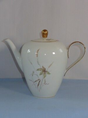 Antique Edelstein Bavaria Germany Porcelain China ~ AURORA ~ Cov'd Coffee Pot