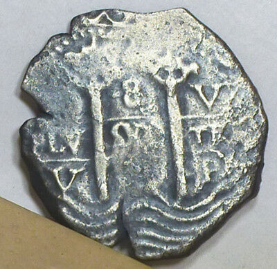 Bolivia Cob 8 Reales Treasure Coin ND (1652-1665) Fine Condition NO RESERVE