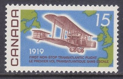Canada 494 MNH 1969 Vickers Vimy 1919 and Map of the Atlantic