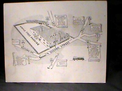 map of 'new' Sears store w/roads leading to it 1950s,Chambersburg, PA