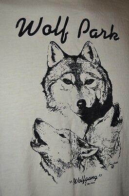 Wolf Park Wolfgang Dog Pack Nature Zoo Animal Screen Stars M T-Shirt USA VTG 80s