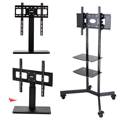 Cantilever TV Stand With TV Bracket Mount Cabinet Top For Samsung LG LCD LED TVs