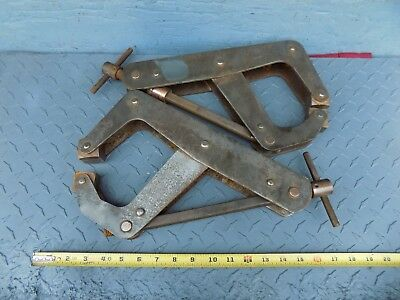 RARE 10'' QUICK RELEASE KANT-TWIST CLAMPS 2 pc.non - marking welding clamp