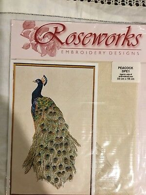 Roseworks Embroidery Design - Peacock Stitchers.