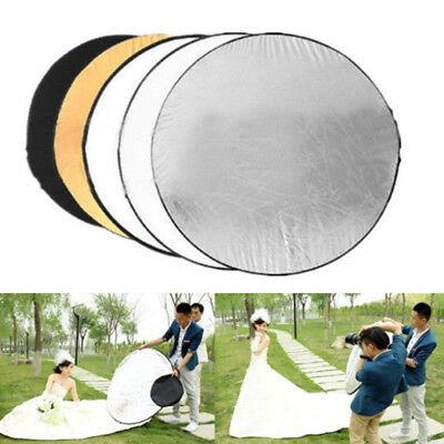 Portable 5 in1 Light Mulit Collapsible Panel Reflector Diffuser for Photograph