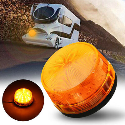 15 LED Sécurité Alarme Lampe Gyrophare Stroboscope Clignotement Flash Amber 12V