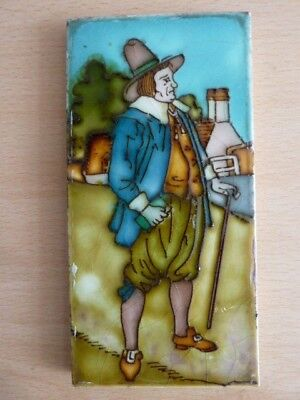 Rare Charlotte Rhead Tile - Country Gent