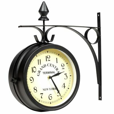 Train Station Clock Grand Central Station Wall Clock Double Sided 20cm