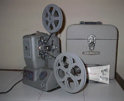"""ELMO 8mm PROJECTOR MODEL E-80 Variable Speeds """"WORKS GREAT"""""""