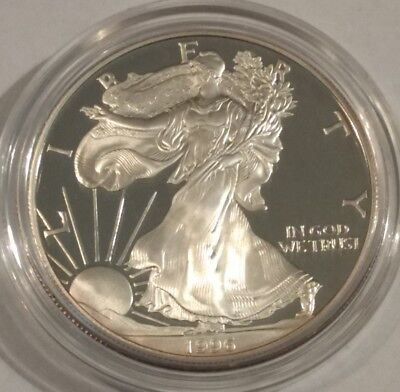 1996-P PROOF American Silver Eagle. Brilliant BU ASE in its original capsule.