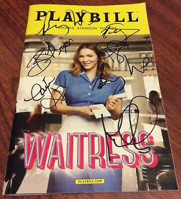 Katharine Mcphee Cast Signed Waitress Playbill Nyc Broadway Theatre Gehling