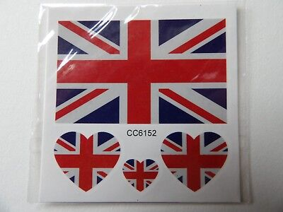 Union Jack Uk Flag Temporary Tattoos (Brand New)