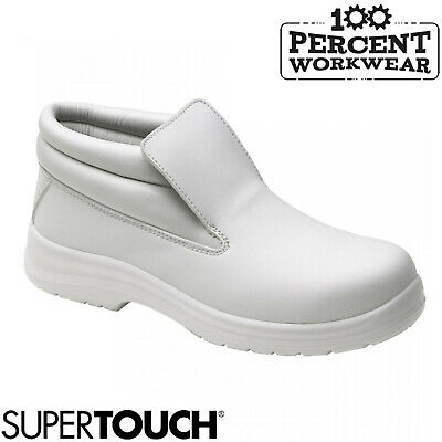 Supertouch Food X Slip On Lightweight Safety Boots Steel Toe Cap Medical Hygiene