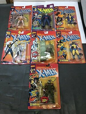 Lot Of 7 1990's Toybiz Uncanny X-Men MOC Mint