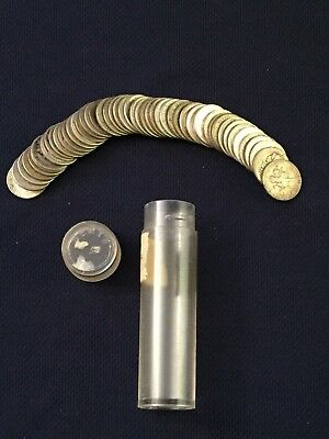 1 Roll (50 count) 90% Silver Roosevelt and Mercury Dimes