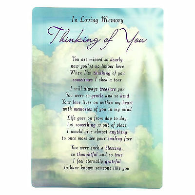 In Loving Memory Open Graveside Memorial Card - Thinking of You