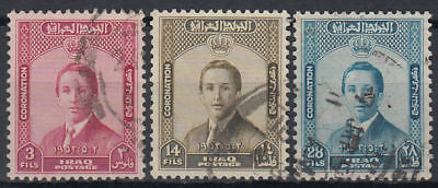Irak Iraq 1953 used Mi.164/66 Krönung Coronation König King Faisal [gb800]