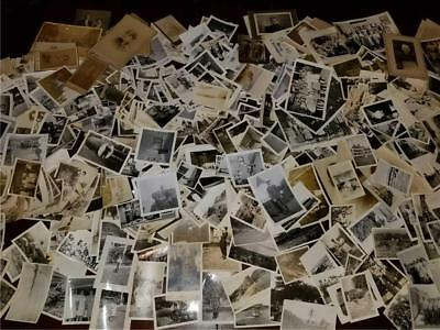 Huge Lot 600+ Antique Vintage Photographs 1900-1960s Family Military Travel ++