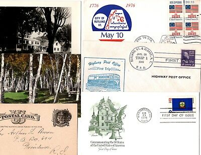 twelve nice vermont covers and cards - see description