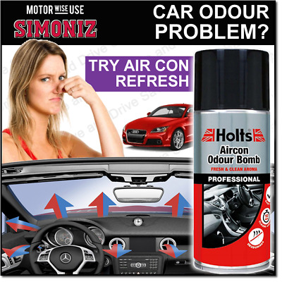 Car Air Con Odour Bomb Air Conditioning Fresh Neutraliser & Sanitiser Cleaner