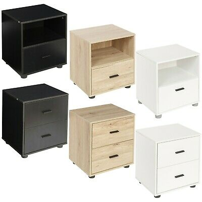 1 Or 2 Drawer Wooden Bedside Cabinet Bedroom Furniture Storage Unit Nightstand
