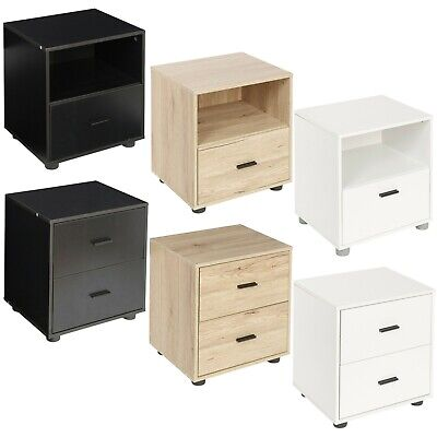 1 Or 2 Drawer Wooden Bedside Table Cabinet Bedroom Furniture Storage Nightstand