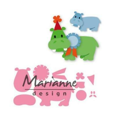 Marianne Design Collectables Elines's  Happy Hippo Cutting Die Set COL 1450