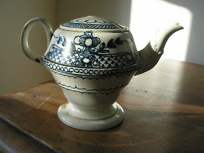 Antique Blue And White Chinese ? Worcester ? Teapot