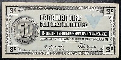 CTC S3-A Vintage 1972 Canadian Tire 3 Cents Note - UNC - Free Combined S/H