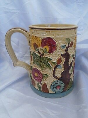 """Lovely Vintage H J WOOD """"Indian Tree"""" Hand Painted Tankard"""
