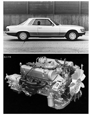 1983 ? Mercedes Benz 500SLC & 5 Liter V8 Engine Factory Photo cb1160