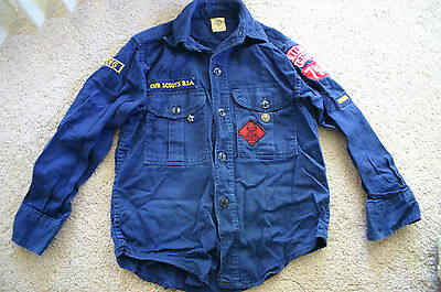 Vintage 1960's Cub Scouts of America OFFICIAL Shirt - LIGHT USE!!!   (0016)