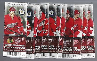 2014-2015 Nhl Detroit Red Wings Season Full Unused Tickets Lot - All 43 Games