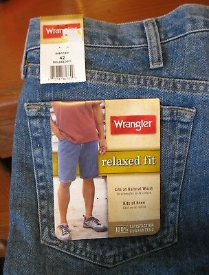 """Wrangler Relaxed Fit 100% Cotton Shorts 42"""" Waist - New With Tags"""