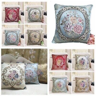 Brocade Vintage Jacquard Luxury Throw PILLOW COVER European Cushion Case 18x18""