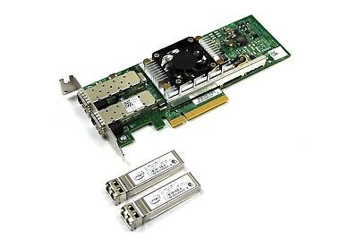 Dell Y40PH Broadcom 57810S Dual Port SFP+ 10Gb Converged Network Adapter w/ SFPs