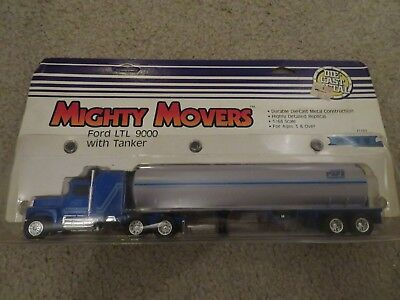 Ertl Mighty Movers Ford LTL 9000 With Tanker 1:64 Scale 1987 NIP See My Store