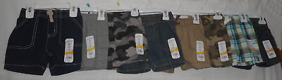 New Lot of Boys Size 9M 9 Months Shorts Summer Lot Denim Khaki Plaid Camo