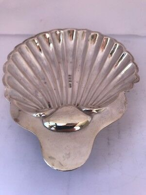 Pretty EDWARDIN Antique SILVER Shell Dish With Three Legs 1905/06 46 Grams